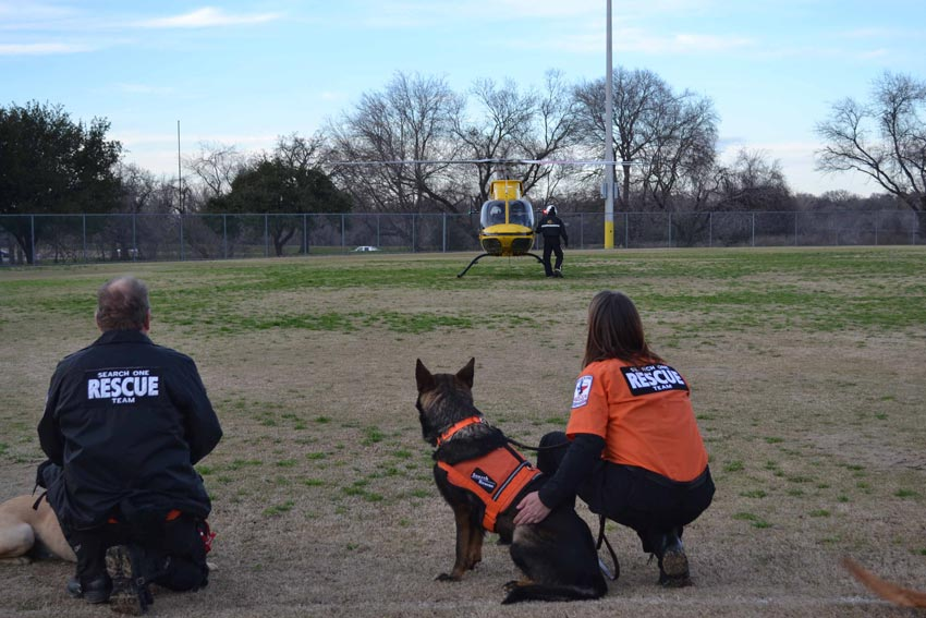 TX Helicopter - Search One Rescue Team - Dallas Ft. Worth K9 Search and Rescue
